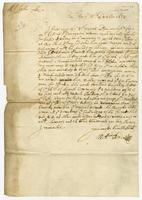 Letter to John Cook, Lisbon, 15 Oct. 1672