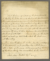 17 November 1806 Sir Robt Milnes Transmitting his accounts of Bills drawn by him as Governor of Martinico... (docket title)