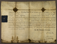 24 March 1807. Kings Constitution. James Ogilvie to be an Assistant Commissary in the West Indies (docket title).