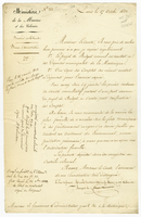 Paris, 17 Oct. 1822. Ms. on printed letterhead