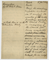 3 Jan. 1823. Ms. copy of memorandum to Owen, on gilt-edge...