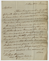 "Jamaica, 12 May 1823, ""My Lord I have been joined..."