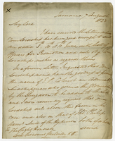 "Jamaica, 7 Aug. 1823. ""My Lord I have received the..."