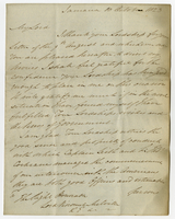 "Jamaica, 10 Oct. 1823. ""My Lord I thank your..."