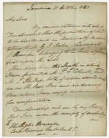 "Jamaica, 11 Oct. 1823. ""My Lord My various returns.."