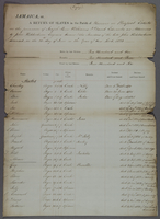 Copies of Returns of Slaves on Prospect Estate in the Parish of Hanover in Jamaica-- (docket title).