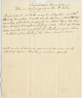 "Memorandum to accompany ""Folio on [?] property in the W. Indies"".."
