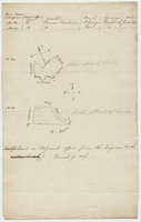 Manuscript sketches of two plans labelled