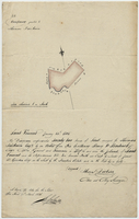 Diagram of Twenty two Acres of Land in Saint Vincent granted to Thos. Fairbairn 14. January 1805 (copy)
