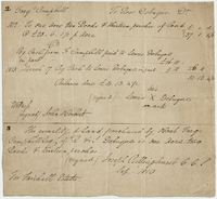 Farqd. Campbell To Rose Debuque Dr. 17 March 1813. Ms. receipt...