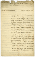 Gonzales Arnao, V., fl. 1823. Montmartre, 31 Dec. 1823. Ms. copy...