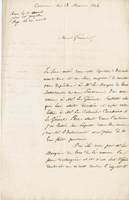 "Caracas, 28 March 1824. ALS to Donzelot, ""Mon General..."