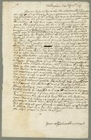 Novr. 12. 1713 Damage done by Major Gilliard partner to Mr Burrell - New lease to be granted to Col. Lambert. an Inventory of Slaves and what was Standing and growing and the Estate - (docket title).