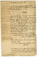 25 May 1824. ALS to Governor Vistoria Guadalupe, on verso of...