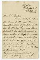 17 Feb. 1890. George C. Pile to Col. W. H. Watson