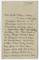 11 April 1895. Sherard H. Godman to Uncle William Henry