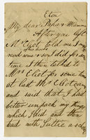 "[1840?] Eton College. to ""My dear Papa and Mama"""