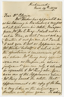 14 Nov. 1874. George C. Pile to Dr. Pilgrim