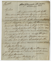 On board HMS Gloucester, Barbados, 16 Feb. 1823