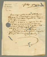 Fort Royal, Martinique, 19 Dec. 1825. ALS on printed letterhead to