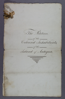 The Petition, of the Coloured Inhabitants, of the Island of Antigua. (ms. title-page)