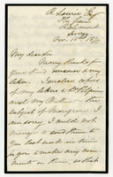 16 Nov. 1874. George C. Pile to R. Laurie