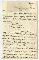 14 Nov. 1877. N. Forte to Mr. Weekes