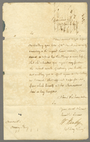 17 Mar. 1846 Wm. Hanley to HK granting 5 months' leave of absence...