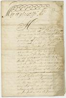 2: July 1684. Report concerning Freeman Ca. Bramley (docket title)