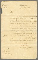 1846 Copy of His Excellency Colonel Torrens Despatch of 22nd April... on subject of the Brig 'Susan King's [Captain McLean] coloured Seamen being improperly treated at Wilmington North Carolina (docket title).