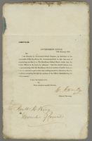 12 Jan. 1847 Govt Office. Printed circular, to HK asking...