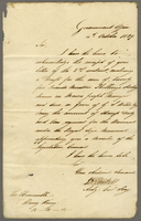 1839 I B Jennings Acting Colonial Secretary lasting 4 October Recd (docket title).