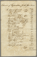 1841 Estimated expenditure (docket title).