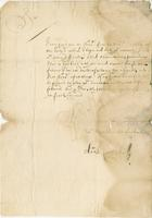 30 May 1685 From Mr. Carmichael (docket title)