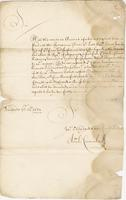 Letter, 14th: Sept 1687 From Capt. Carmichael Recd: ye: 4th March 1687/8 (docket title)