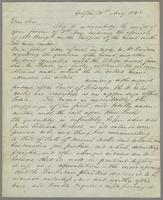 Grafton, 31 May 1843. Ms. Letter to Hale Boys and Austen, signed