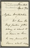 Trinidad, 6 April 1853. ALS to Mrs. Gladstone