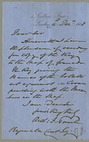 "ALS to ""Reginald Cust Esq.,"" signed ""Arch: F Pauli"""