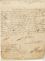 Letter to Blathwayt, Barbados, 14 May 1692. From Mr Whetstone Recd. 13 Aug: 1692 (docket title)