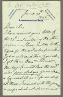 Londesborough Park, Yorkshire, 30 June 1896.