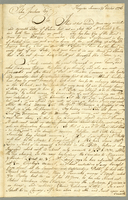 A letter to John Jackson. 2 pp. 37 cm. October 31, 1776.
