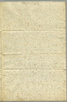 Letter to her parents Mr. and Mrs. Jacob Wolle. February 9, 1845. 4 pp. 40 cm.