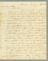 Letter including comments on negroes, soldiers, conditions for independence with France. June 14, 1828. 25 cm.