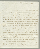 Cinnamon Hill Estate. Autograph letter signed from A. Nisbet, agent on Tobago, to Alexander Reid, Scotland, describing his brother's affairs in the Court of Common Pleas. He gives details of the sugar crop and claims by his brother's creditors. Also a lis