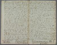 Wm Bate and Alice Bate their deed of Settlemt of plant La Rouse to Rd Bate their Sonne Augt 14 1677 Barbados (docket title)