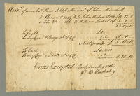 Receipt for flour sold for the account of John Minshall. May 1746. 1 pp., 12.5 cm.