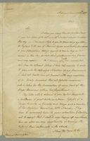 "Copy of a secretarial manuscript letter by Macartney to Admiral Samuel Barrington about ""the defenceless situation of my government."" St. George's Grenada. January 30, 1779. 1pp., 32 cm."