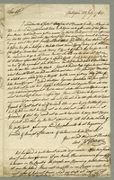 "Letter. James Howison to John Aicheson, Grenada, reporting on his circular negotiations for the purchase of ""a Mulatto Wench"" and other errands, debts, drought on Antigua. July 28, 1768. 1 pp., 30 cm."
