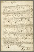 Letter to the Lords commissioners of the Treasurey, Barbados, 1680