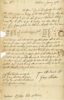 Letter to William Plaxton, Barbados, 5 Jan. 1723